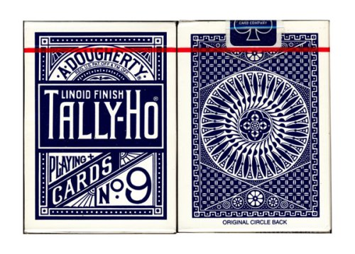 tally-ho-poker-cards-no-9-mit-circle-back-in-blau