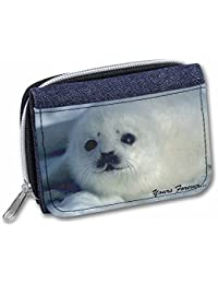 Snow Seal 'Yours Forever' Girls/Ladies Denim Purse Wallet Christmas Gift Idea