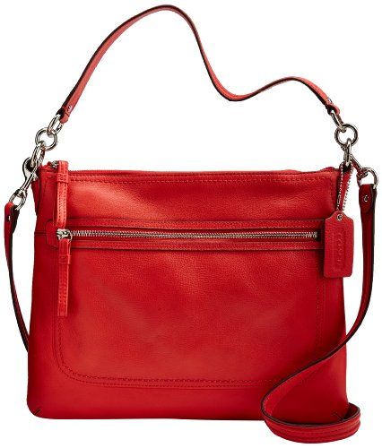 Leather Perri Hippie Convertible Bag 22421M Love Red ()