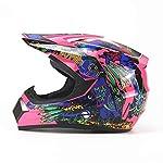 Leoie Helmet,Unisex Motorcycl Helmets Downhill Helmets Off-Road Mountain Helmet Full Face Racing Helmet Pink 5 L