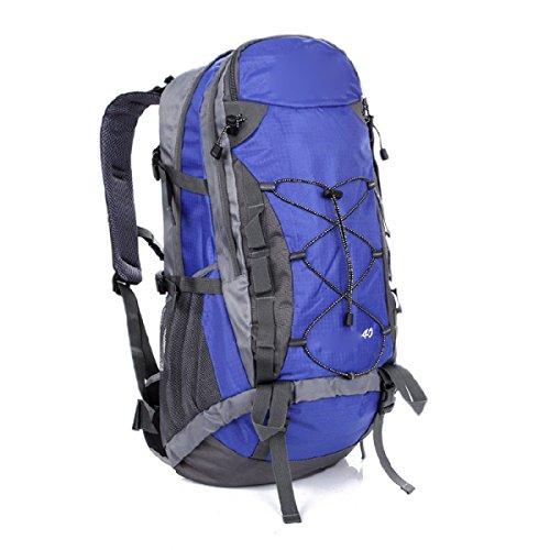 Wandern Rucksack 40L Nylon Wasserdicht Rucksack Outdoor Sportpaket,SkyBlue Blue