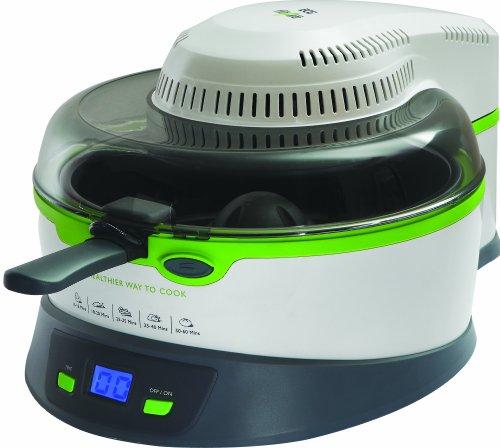 ECG MH 168 Fit 4 life Multifunktionale Topf, 1000-1200 W, 1 Esslöff el Öl, Behälterinhalt 3 l, 5 Funktion in 1 Kochtopf, Weiß und grün