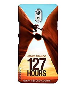 Omnam James Franco 127 Hours Unstoppable Journey Printed Designer Back Cover Case For Lenovo Vibe P1 M