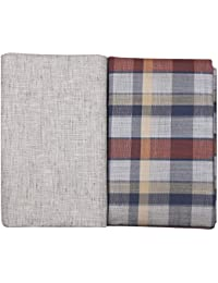 Raymond Men's PV Unstitched Shirt & Trouser Fabric (GANU 2324-2.4M & 1.25M Multi & Grey)