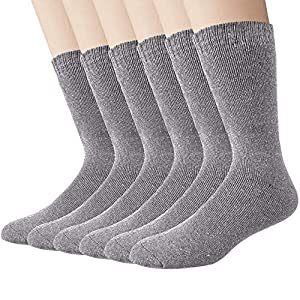 6 Paar warme Wollsocken für Wintermänner