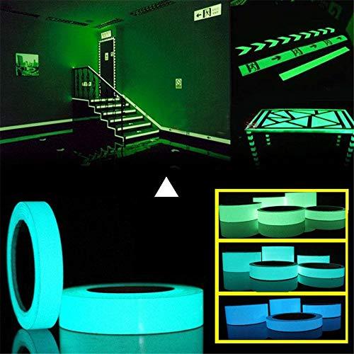 JIASHU 329ft * 20mm Leuchtband Selbstklebende Glow In Dark Aufkleber für Ausfahrt Zeichen Wände Sicherheit Bühne Nachtsicht Dekoration Band, Party liefert