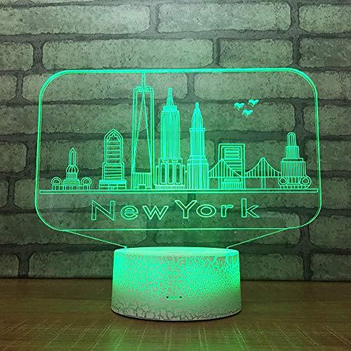 Yoppg 3D Illusion Lampe Led Nachtlicht Touch-Schalter 7 Farben Schreibtisch Optische Illusions Lampen Usb Or Batterie Betrieben Kind Weihnachtsgeschenk Stahlbau