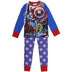 Pijama oficial para niños de Star Wars, Disney, Marvel, Toy Story, WWE, John Cena Azul Marvel's The Avengers UK Talla-Edad 4-5 años