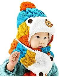 pour 1-5 ans bébé, Amlaiworld Bonnets de bébé + écharpe