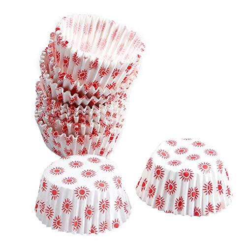 White Cupcake Paper Baking Cup Liner 100 Einweg-Papierbackbecher, Pink & Gold Dots Antihaft-Papier-Muffinbecher Einweg-Papierbackbecher - Dots Cupcake Liner
