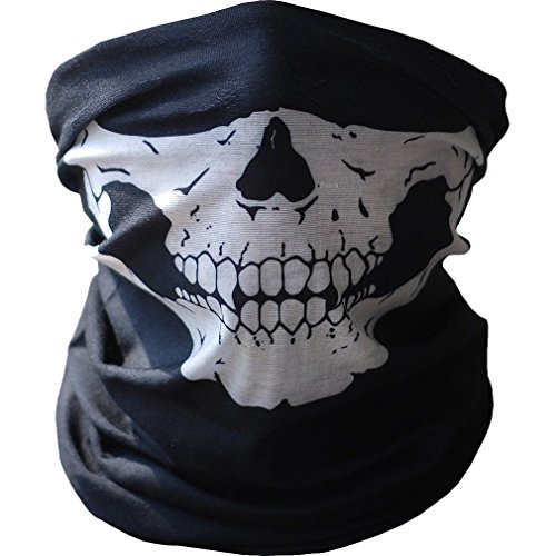 Face Maske Skull Biker Sturmhaube Kostüm Halloween Cosplay Schal Handtuch ()