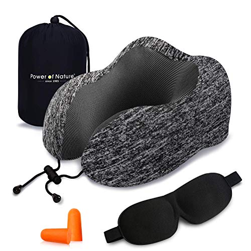Cuscino da viaggio memory foam - The Best a forma di U collo cuscino con 360 Head & tridimensionale pieno supporto cervicale collo cuscino da viaggio perfetto per...