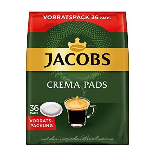 Jacobs Kaffeepads Crema Classic, 180 Senseo kompatible Pads im Vorteilspack, 5er Pack, 5 x 36 Getränke