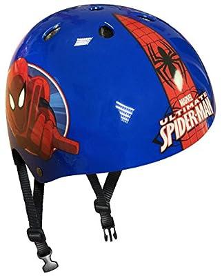 Boy's Spiderman Stamp Skateboard Helmet, 54-60cm, Blue from STCNV|#Stamp