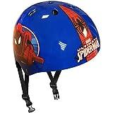 Stamp Spiderman casco de Skateboard para niño, azul