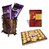 #2: Dairy Milk Silk Gift Pack With Anniversary card 24 Pieces Ferrero Rocher Chocolate Wedding Gift Anniversary Chocolate Hamper