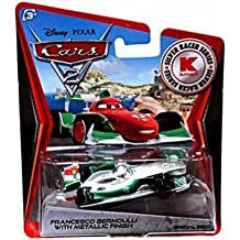 Disney Pixar CARS 2 Exclusive 1:55 Die Cast Car SILVER RACER Francesco Bernoulli With Metallic Finish