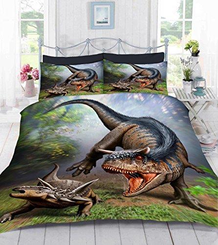 UK Hecho 3D Foto Funda de edredón Con Funda de almohada(Albertosaurus) King ES