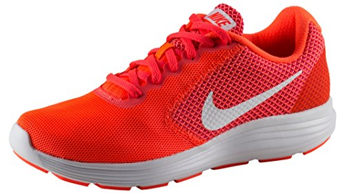 Nike Nike Revolution 3, Damen Laufschuhe, Chaussures de course femme Orange/blanc