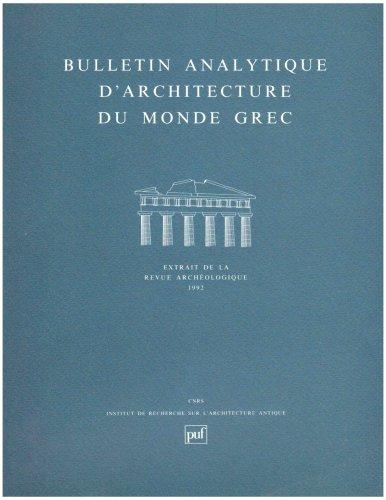 Bulletin analytique d'architecture du monde grec