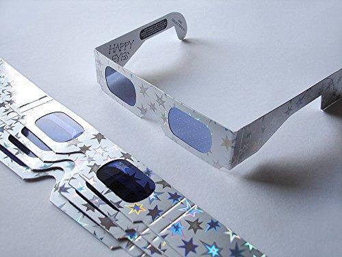 HoloSpex 3D Brille Star, 5-Stern, Weihnachten (Happy Eyes, Holiday Specs) / Weihnachtsbrille, Effektbrille, Partybrille, Spaßbrille (Star Brille)