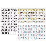 Emsmil Klein Buchstaben Set Buchstaben Zahlen Symbole Black Farbe Buchstaben, Pastell Farbe Emojis...