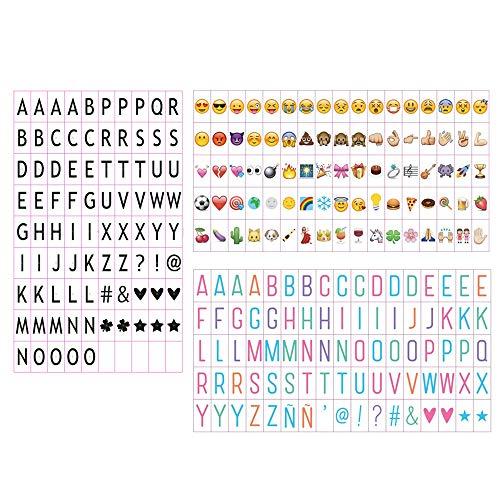 ben Set Buchstaben Zahlen Symbole Black Farbe Buchstaben, Pastell Farbe Emojis For LED Lightbox Leuchtkasten Erweiterung A4 Cinematic Lichtbox ()