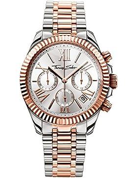 Thomas Sabo Damen-Armbanduhr Divine Chrono Rosegold Silber Analog Quarz