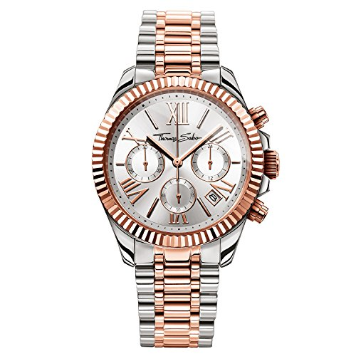 Thomas Sabo Women's Watch Divine Chrono Rose Gold Silver Analogue Quartz