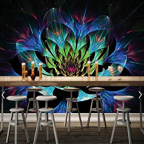 Blendende Blume Couchtisch Desktop-Design Großflächige Wandbilder Tapeten Wohnzimmer Malerei Tv Hintergrund Wand 3D Wallpaper, 200 × 150 Cm