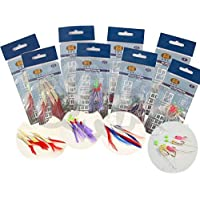 8 Packs Bass And Mackerel Herring Feathers Lure Lures Sea Boat Fishing Rigs