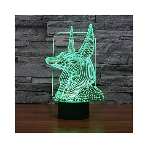 cht Illusion Lampe Nachttischlampe, 7 Farben ändern Touch Schalter Schreibtisch Dekoration Lampen Geburtstag Weihnachten Geschenk mit Acryl Flat & ABS Base & USB-Kabel ()