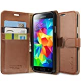 Spigen Case Wallet S Brown for Galaxy S5 (ECO Package) SGP10819