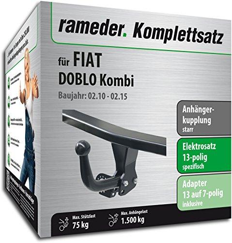 RAMEDER Komplettsatz, Anhängerkupplung starr + 13pol Elektrik für FIAT DOBLO Kombi (113517-08617-5)