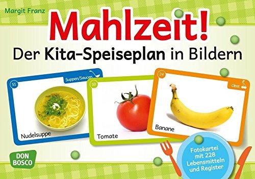 Mahlzeit! Der Kita-Speiseplan in Bildern: Fotokartei mit 224 Lebensmitteln und Register