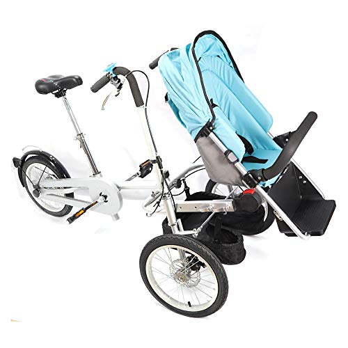 OUKANING Kinderwagen Pushchair Dreiräder Folding Bicycle Kinderwagen 3 in1 Portable Baby Stroller Carrier Bicycle Dreirad 16'' Falten
