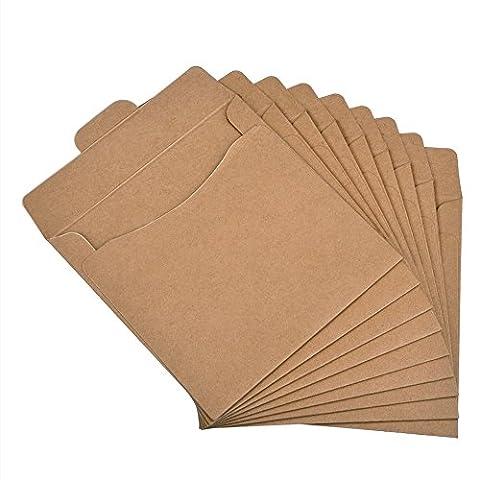 Pingenaneer Lot de 30 Pochettes Enveloppes Papier Kraft Premium Thick en Carton pour CD DVD