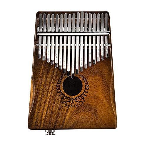 KKmoon Muspor 17 Keys EQ Kalimba Solid Acacia Thumb Piano Link Speaker Electric Pickup with Bag Cable Calimba Mbira Keyboard Instrument