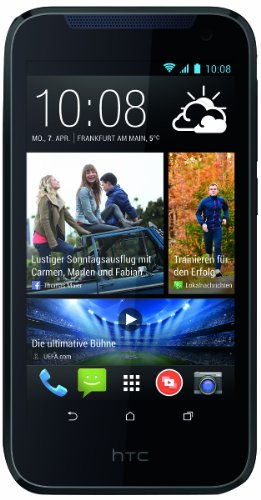 HTC Desire 310 Smartphone (11,4 cm (4,5 Zoll) FWVGA Display, Quad-Core, 1,3GHz, 1GB RAM, 5 Megapixel Kamera, Android 4.2) blau