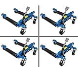4x Rangierhilfe hydraulisch Wagenheber Autoheber Rangierroller Rangierheber