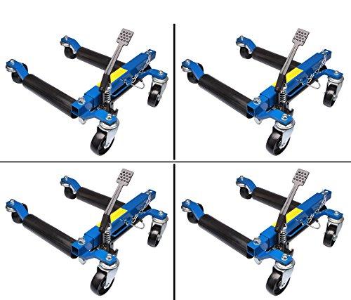 Herkules Werkzeuge 4X Rangierhilfe hydraulisch Wagenheber Autoheber Rangierroller Rangierheber