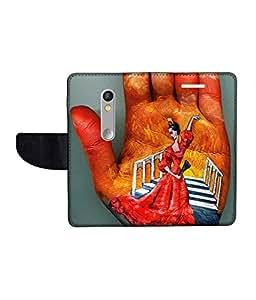 KolorEdge Printed Flip Cover For Motorola Moto X Play Multicolor - (1479-55KeMLogo11911MotoXPlay)