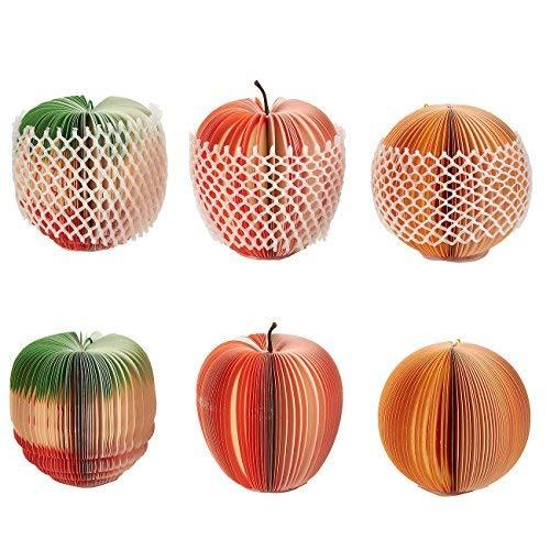 ack 3D fruit-shaped Memo Pads für Studenten, Home, Schreibtisch Dekorationen, Office Supplies, Apple, orange, Ananas, 8,9x 8,9x 8,9cm ()