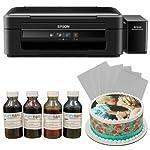 Canon Edible Cake Printer Complete Set Including 4 Edible Ink Bottles (CMYK,400ml) & 25 Icing Sheets