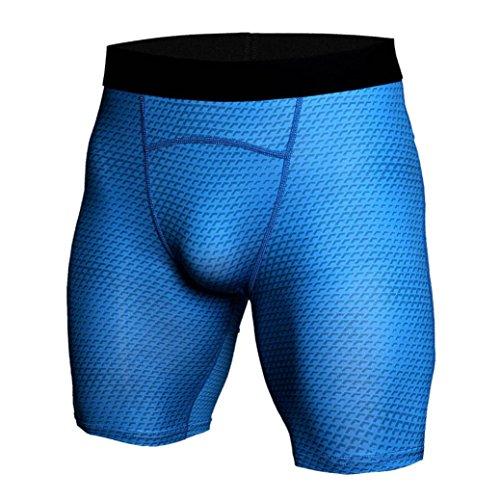 GreatestPAK Herren Snake Skin Gedruckt Atmungsaktiv Schnell trocknend Sport Shorts Gym Kurze Hosen Workout Fitness Sport Shorts,Blau,XXXL