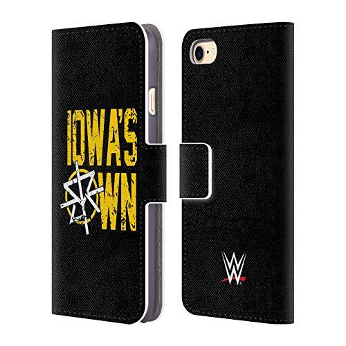Head Case Designs Offizielle WWE Seth Rollins Iowa's Own 2018/19 Superstars 4 Leder Brieftaschen Huelle kompatibel mit iPhone 7 / iPhone 8 - Iowa Leder