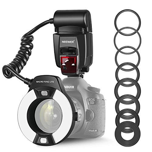 Neewer Macro TTL Ring Anillo luz Flash LED lámpara