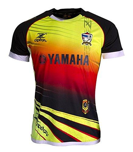maillot-de-foot-thailande-cz207-noir-jaune-rouge