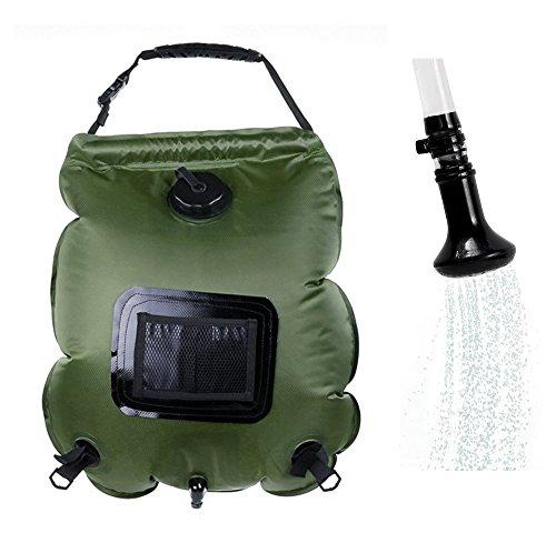 Hotour Tragbare Outdoor-Dusche 5-Gallonen Solar Dusche Wasser Tasche Camping Dusche 20L mit Thermometer