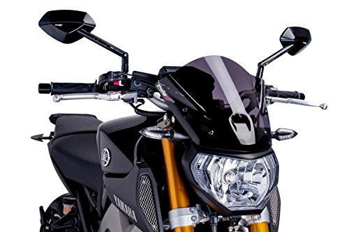 Windschild Puig NEW GENERATION SPORT Yamaha MT09 2013-2016 schwarz getönt 90%